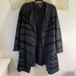 Vince Camuto Zebra Print Sweater Coat